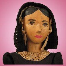 10 inch c.1950s Helen Bullard Wood Doll Holly Dolly Ozone, Tenn.