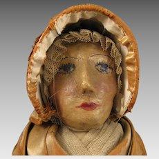 13 inch c.1920s Cloth Quaker Lady Doll