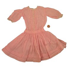 Antique Commericial Pink Cotton Dress for 17 to 18 inch Doll - Red Tag Sale Item