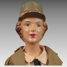 1942-43 Freundlich Composition US Army WAAC Doll 15 inch