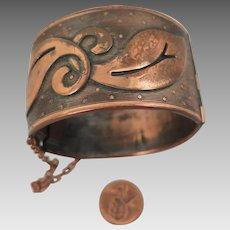 Arts and Crafts Copper Cuff Bracelet
