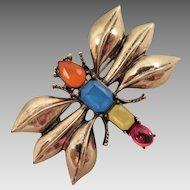 Vintage Rhinestone Insect Bug Brooch