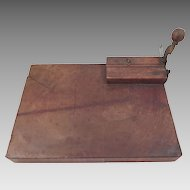 Antique Cigar Cutter Rolling Board