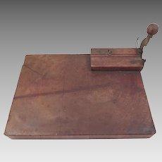 Antique Cigar Cutter Rolling Board