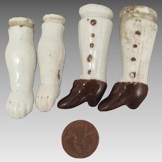 Antique China Bisque Doll Arms and Legs set