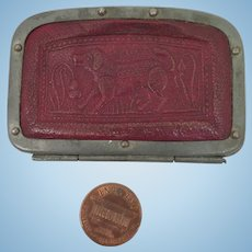 Antique Child's Red Leather Purse for Doll