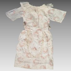 Early 1900s Floral Cotton Dress for 20 to 22 inch Doll