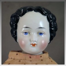 Antique German Flat Top China Doll 22 inches