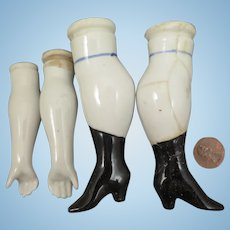1880s China Doll Arms and Legs Set ABG