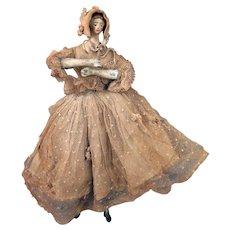 Circa 1900 Fashionable Doll Figure 10 inches