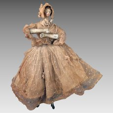 Circa 1900 Fashionable Doll Figure 10 inches