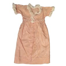 Early 1900s Pink Silk Dressing Gown for 20-22 inch Doll