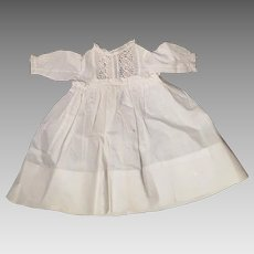 Antique White Cotton Dress Plus Unders for 16 inch doll