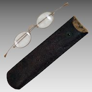 Antique 10K Gold Eyeglasses Spectacles