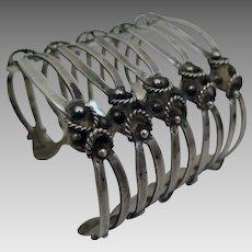 Vintage Southwestern Sterling Silver Bracelet Cuff