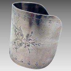 Victorian Sterling Silver Bracelet Cuff