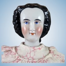 1870s German China Doll Rare Hairstyle 20 inches