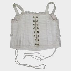 Antique  Straight White Doll Corset