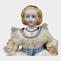 Antique ABG Parian Bisque Alice Doll House Doll 6 inches