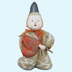 Japanese Kimekomi Doll in Box Taisho Era
