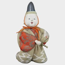 Japanese Kimekomi Doll in Box Taisho Era