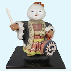 Taisho Era Kimekomi Doll in Box Japan