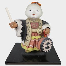 Taisho Era Kimekomi Doll in Box Japan