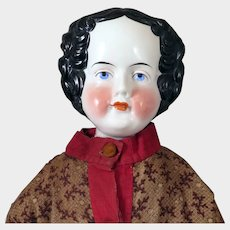1870s Huge China Flat top Doll 29 inches