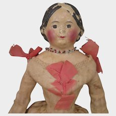 1850s German Papier Mache Milliner's Doll 15 inches