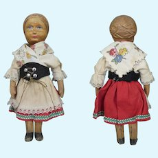 Huggler Swiss Wooden Doll 6 inches