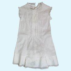 Antique Large White Cotton Doll Dress