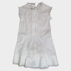 Antique Large White Cotton Doll Dress
