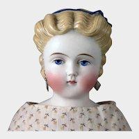 Alt Beck Gottschalck Parian Bisque Doll with Fancy Headband 16 inches