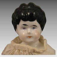 Hertwig Whistle Head 12 inch China Doll Early 1900s