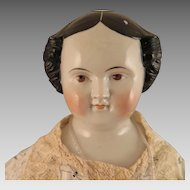 1860s Kestner Brown Eyed China Doll 25 inches