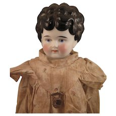 German Hertwig Petname Mabel China Doll 19 inch - Red Tag Sale Item