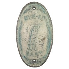 1920s Bye-lo Baby Doll Store Plaque