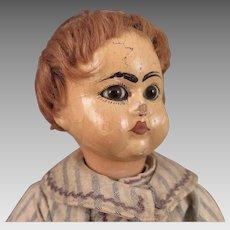 Antique Wood Tout en Bois Doll All Original 13.5 inches