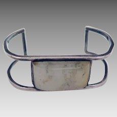Mod Vintage Sterling Silver Agate Bracelet