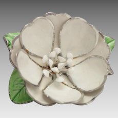 Vintage Corocraft Enameled Flower Brooch