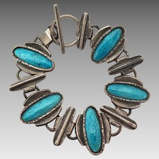 Vintage Blue Enamel Bracelet