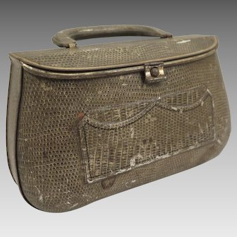 Biscuit Tin 1908 Huntley Palmers Lizard Skin Purse