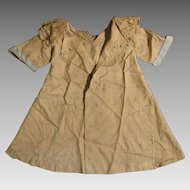 1920s Beige Silk Coat Dress for 20-24 inch Doll