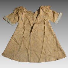 1920s Beige Silk Coat Dress for 20-24 inch Doll