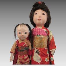 1940s-50s Japanese Ichimatsu Sister Dolls