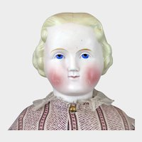 1860s Alt Beck Gottschalck Parian Bisque Doll 21 inch