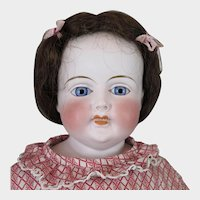 1860s German Bisque Doll with Teeth 26 inch