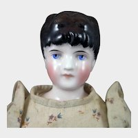 1870s Kling 148 China Doll with Hair up 16.5 inches