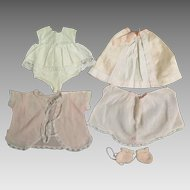 Early 1900s Layette Clothing Set for 16-18 Inch Doll
