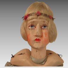 German Wooden Flapper Doll